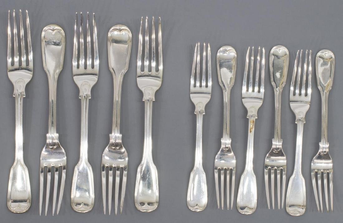 (23) GEORGIAN & VICTORIAN STERLING SILVER FLATWARE - 2