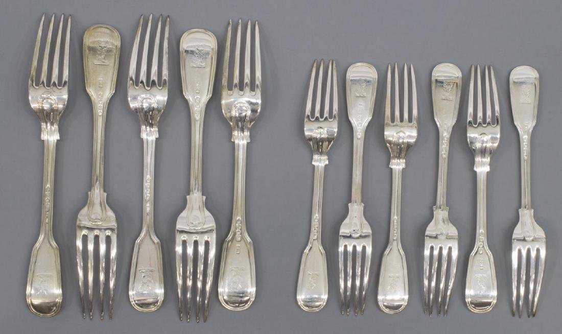 (23) GEORGIAN & VICTORIAN STERLING SILVER FLATWARE - 3