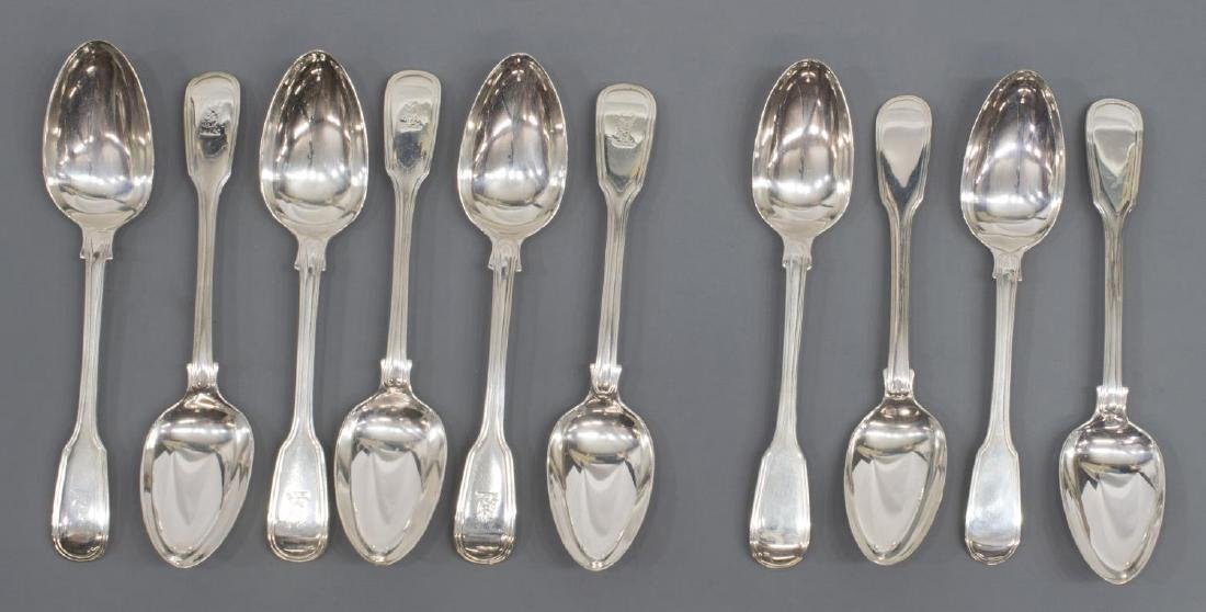 (23) GEORGIAN & VICTORIAN STERLING SILVER FLATWARE - 4