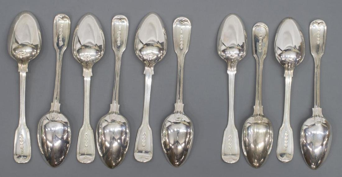 (23) GEORGIAN & VICTORIAN STERLING SILVER FLATWARE - 5