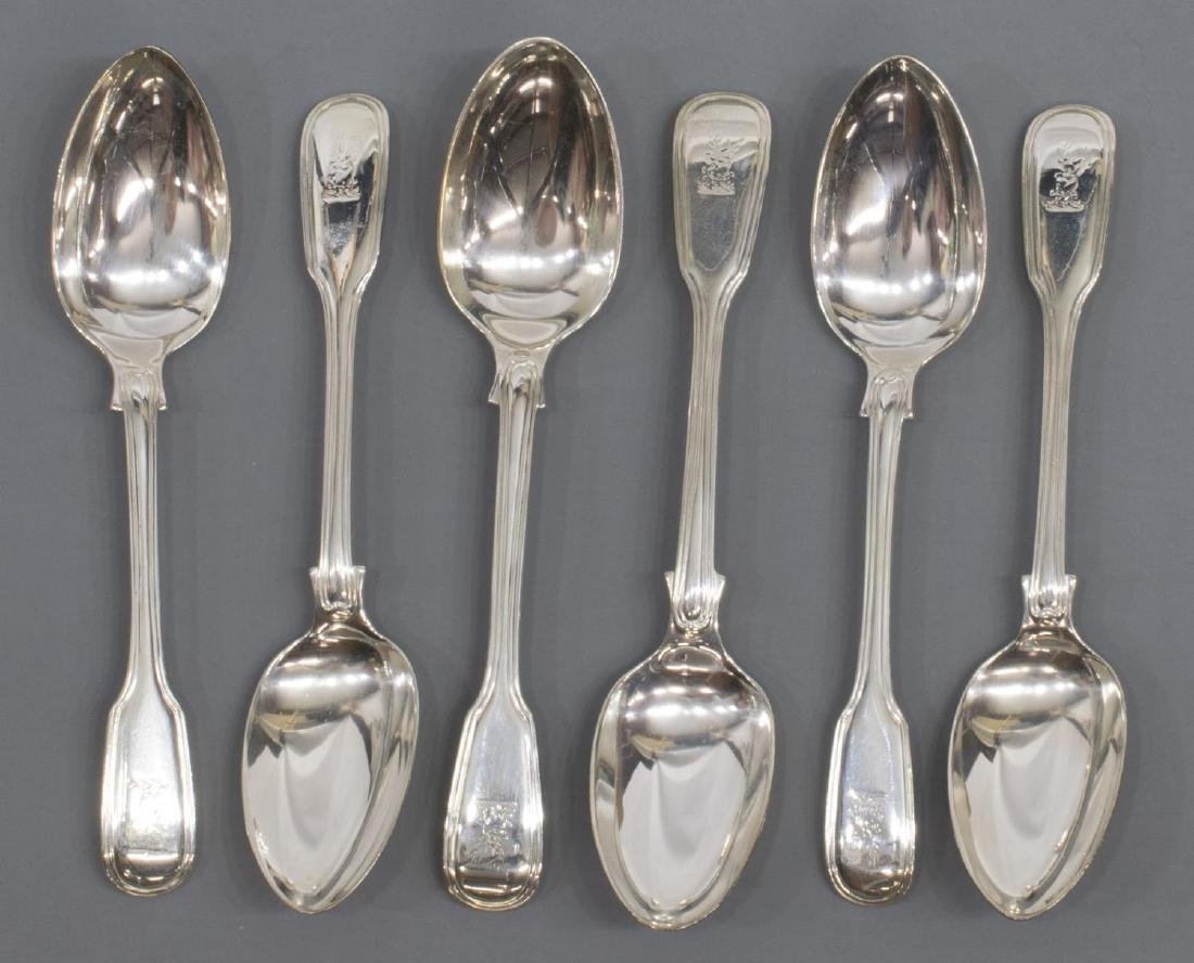 (23) GEORGIAN & VICTORIAN STERLING SILVER FLATWARE - 6
