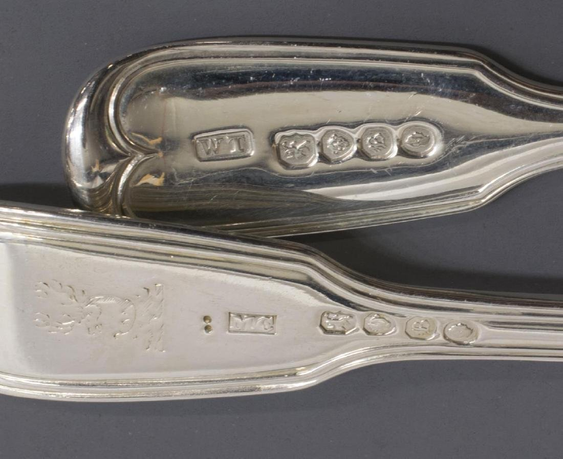 (23) GEORGIAN & VICTORIAN STERLING SILVER FLATWARE - 9