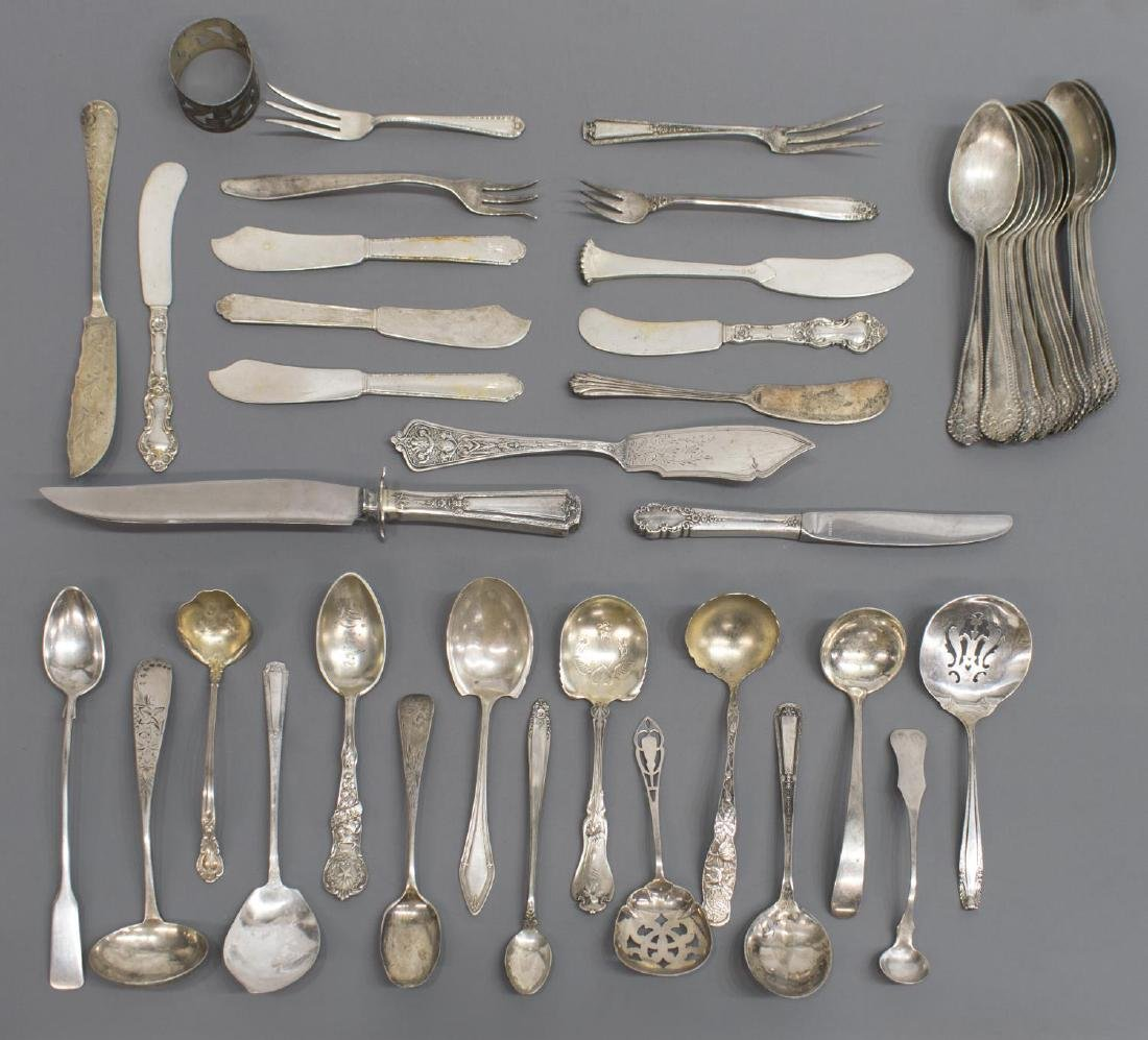 (44) LARGE GROUP OF STERLING SILVER FLATWARE - 2