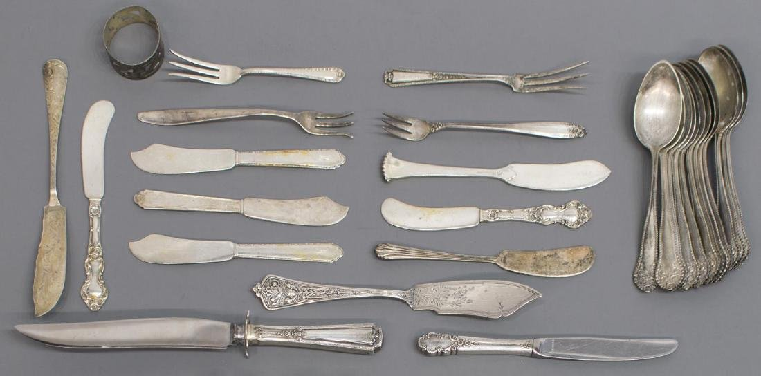 (44) LARGE GROUP OF STERLING SILVER FLATWARE - 3