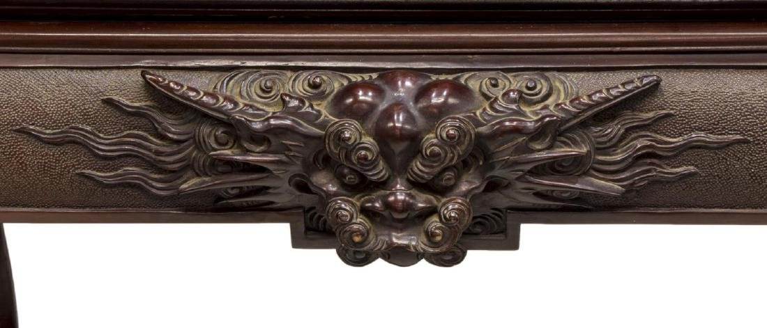 ASIAN CARVED HARDWOOD DRAGON CENTER TABLE - 3