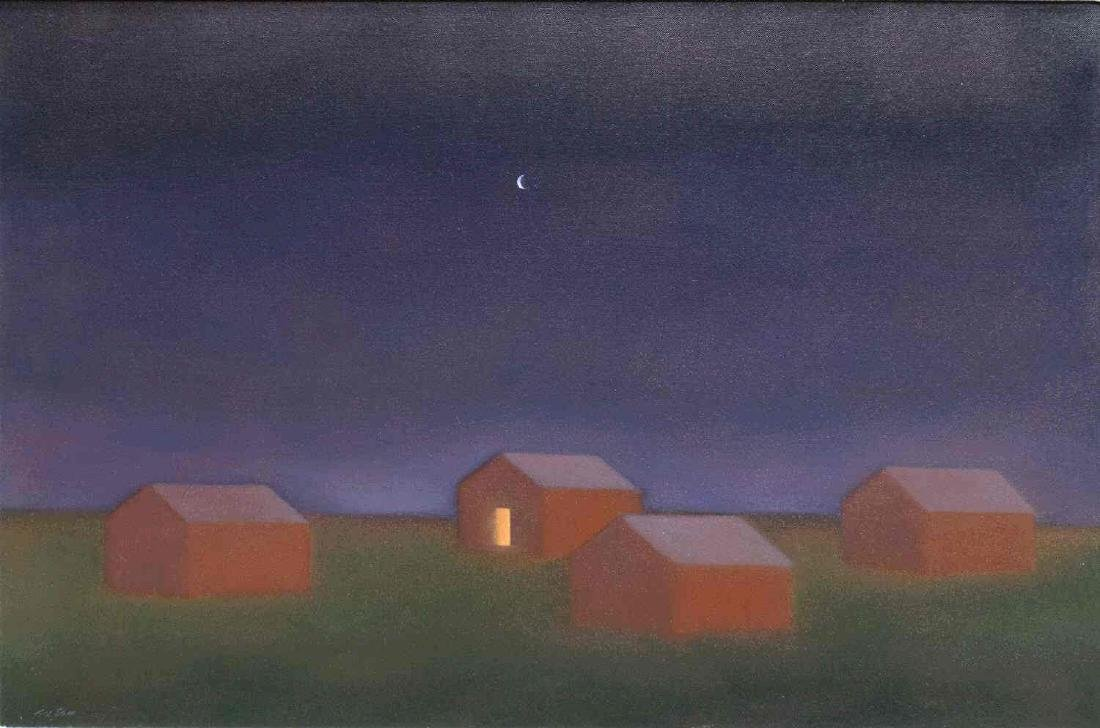 JOHN AXTON (NEW MEXICO, B.1947) OIL PAINTING