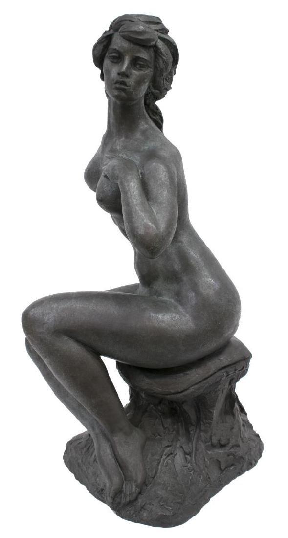 """CHARLES UMLAUF(1911-1994)NUDE BRONZE SCULPTURE 25"""""""