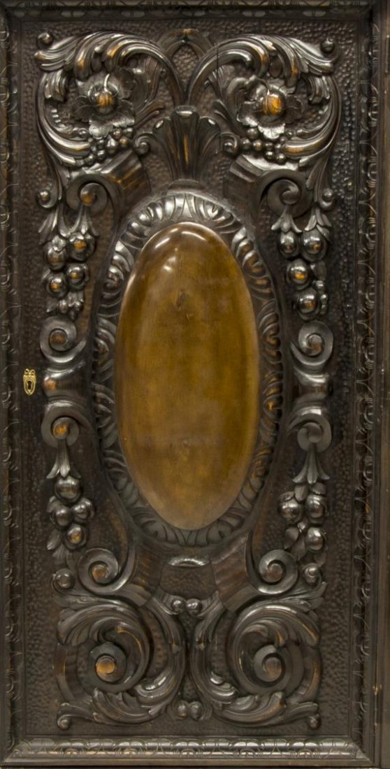 RENAISSANCE REVIVAL HEAVILY CARVED FIGURAL CABINET - 8