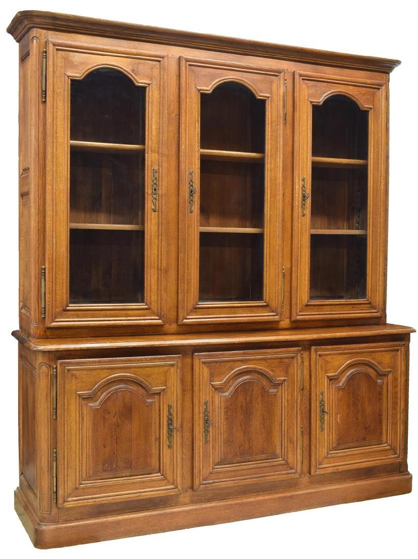 FRENCH PROVINCIAL OAK BOOKCASE