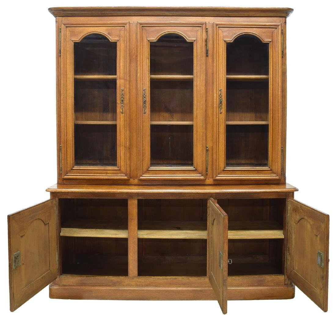 FRENCH PROVINCIAL OAK BOOKCASE - 2