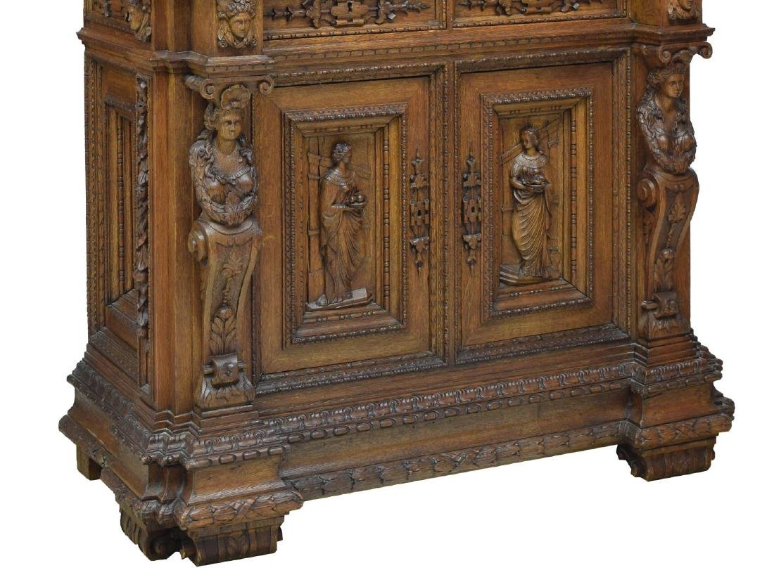 ORNATE FRENCH CARVED CLASSICAL FIGURES CABINET - 3