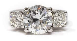 469CTTW DIAMOND 14KT WG RING GIA CENTER STONE