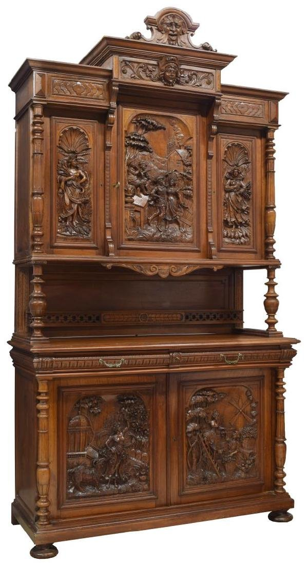 HIGHLY CARVED FRENCH RENAISSANCE REVIVAL SIDEBOARD