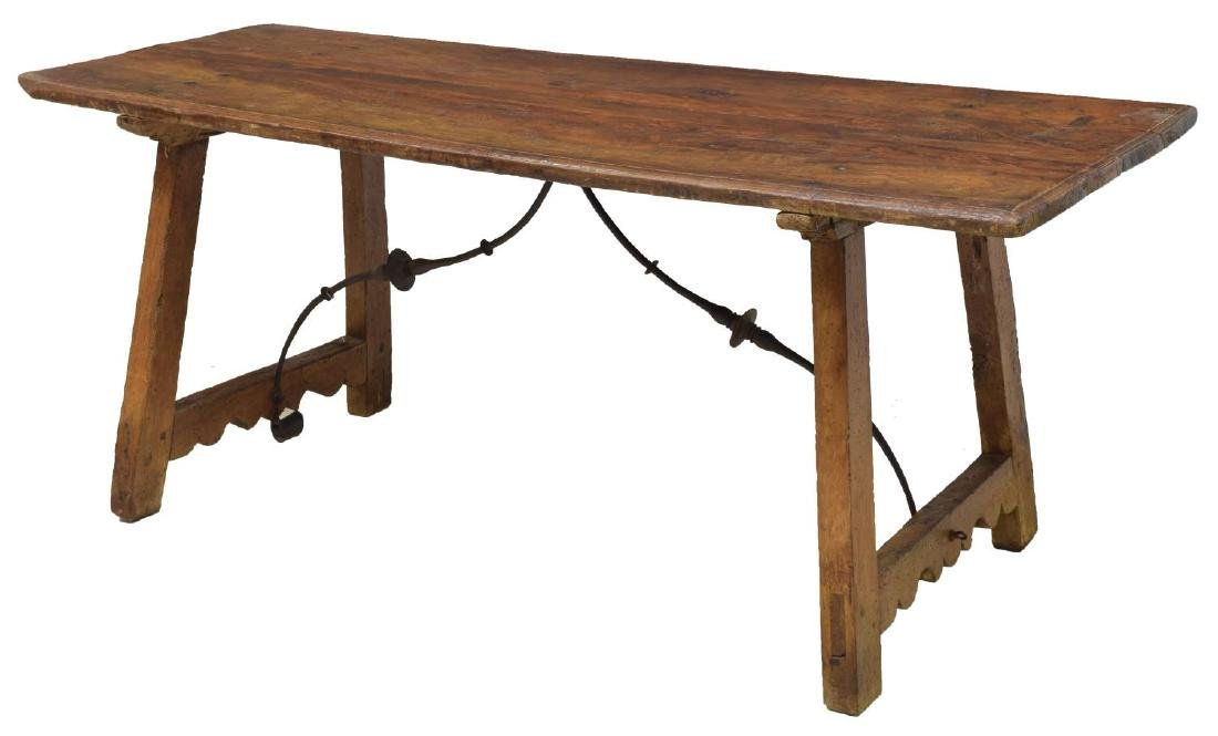 SPANISH THREE BOARD TOP DINING TABLE