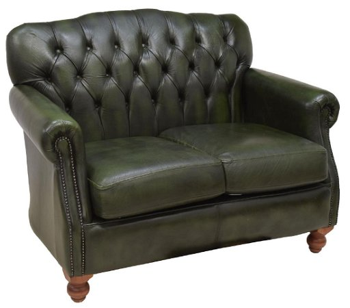 Fantastic Chesterfield Green Leather Two Seater Sofa Onthecornerstone Fun Painted Chair Ideas Images Onthecornerstoneorg