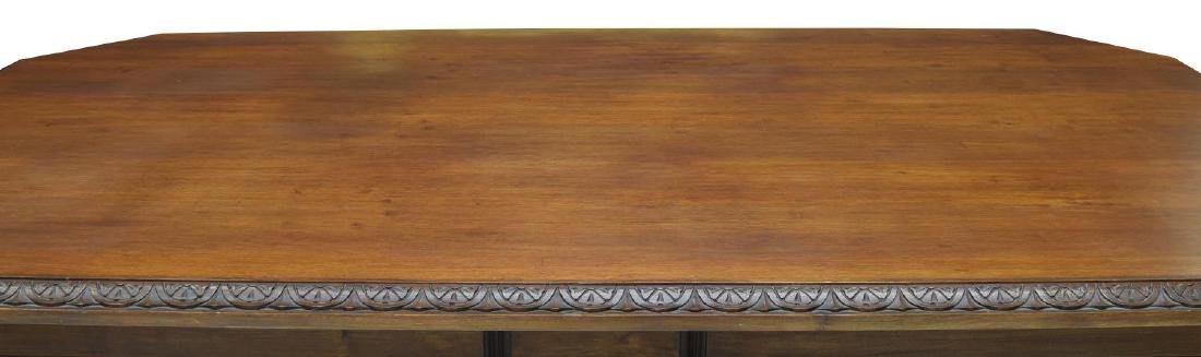 RENAISSANCE REVIVAL CARVED LIBRARY / DINING TABLE - 3