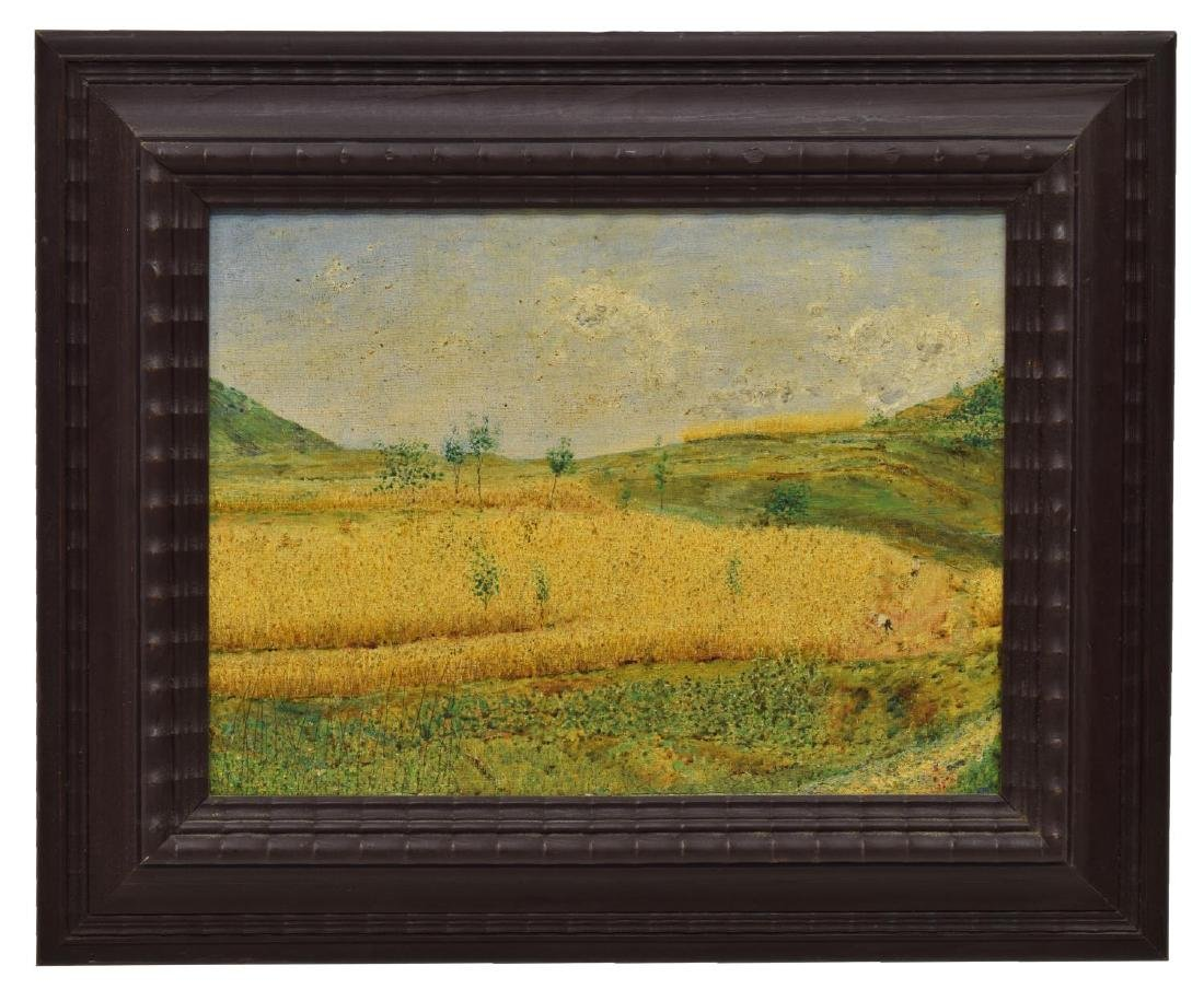 ITALIAN OIL ON BOARD PAINTING, GOLDEN HARVEST - 2