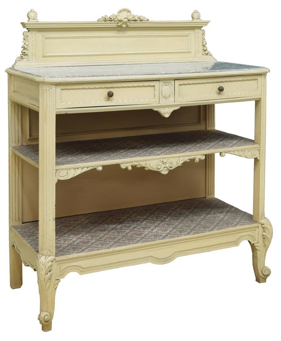 FRENCH COUNTRY PROVINCIAL PAINTED WOOD SIDEBOARD