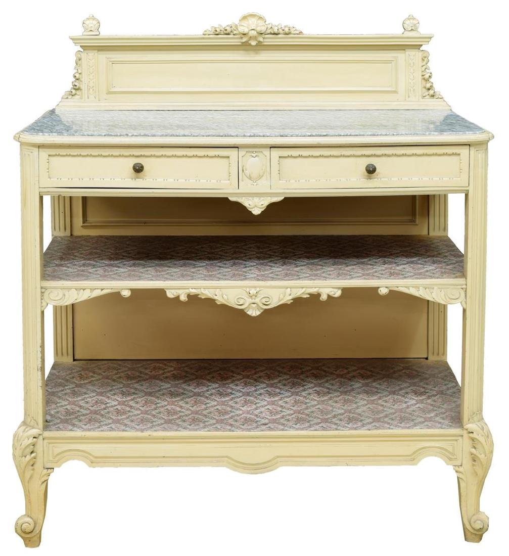 FRENCH COUNTRY PROVINCIAL PAINTED WOOD SIDEBOARD - 2