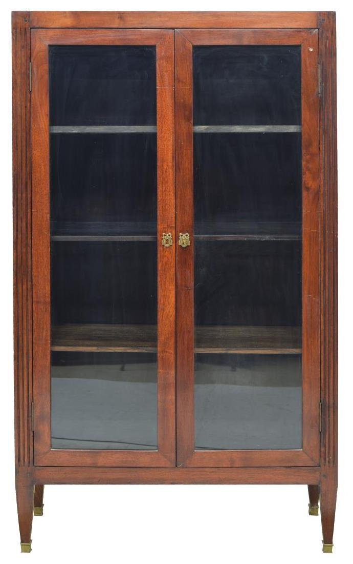 FRENCH MAHOGANY VITRINE GLAZED DOUBLE-DOOR CABINET - 2