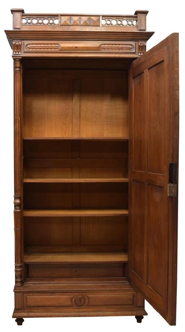 FRENCH HENRI II STYLE WALNUT FINISH ARMOIRE - 3