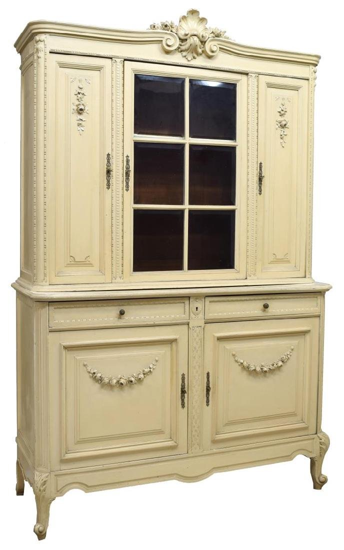 FRENCH PROVINCIAL PAINTED SIDEBOARD CABINET