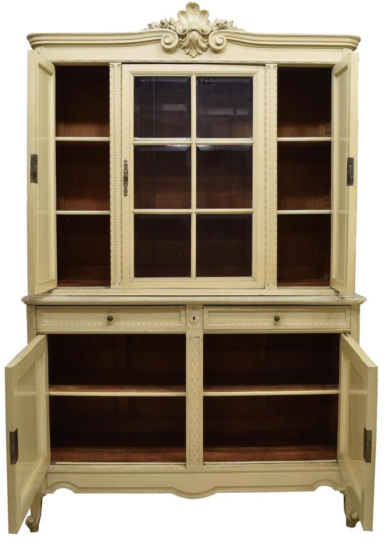 FRENCH PROVINCIAL PAINTED SIDEBOARD CABINET - 2