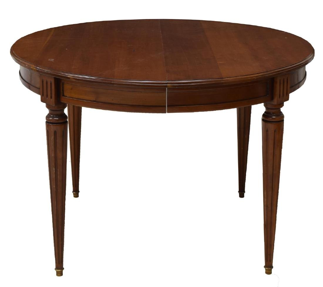FRENCH LOUIS XVI STYLE DINING TABLE W/ LEAF - 3
