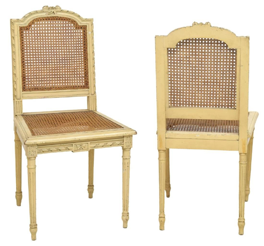 (4) FRENCH LOUIS XVI STYLE CANED SIDE CHAIRS - 2