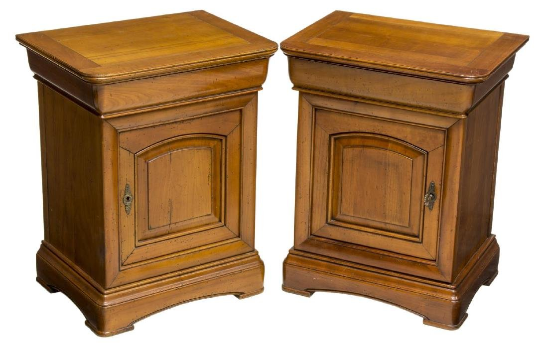 (2) CHARLES X STYLE OAK SIDE CABINETS
