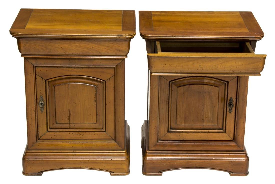 (2) CHARLES X STYLE OAK SIDE CABINETS - 2