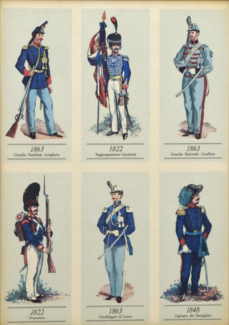 (4) FRAMED PRINTS OF 19TH C. MILITARY UNIFORMS - 2