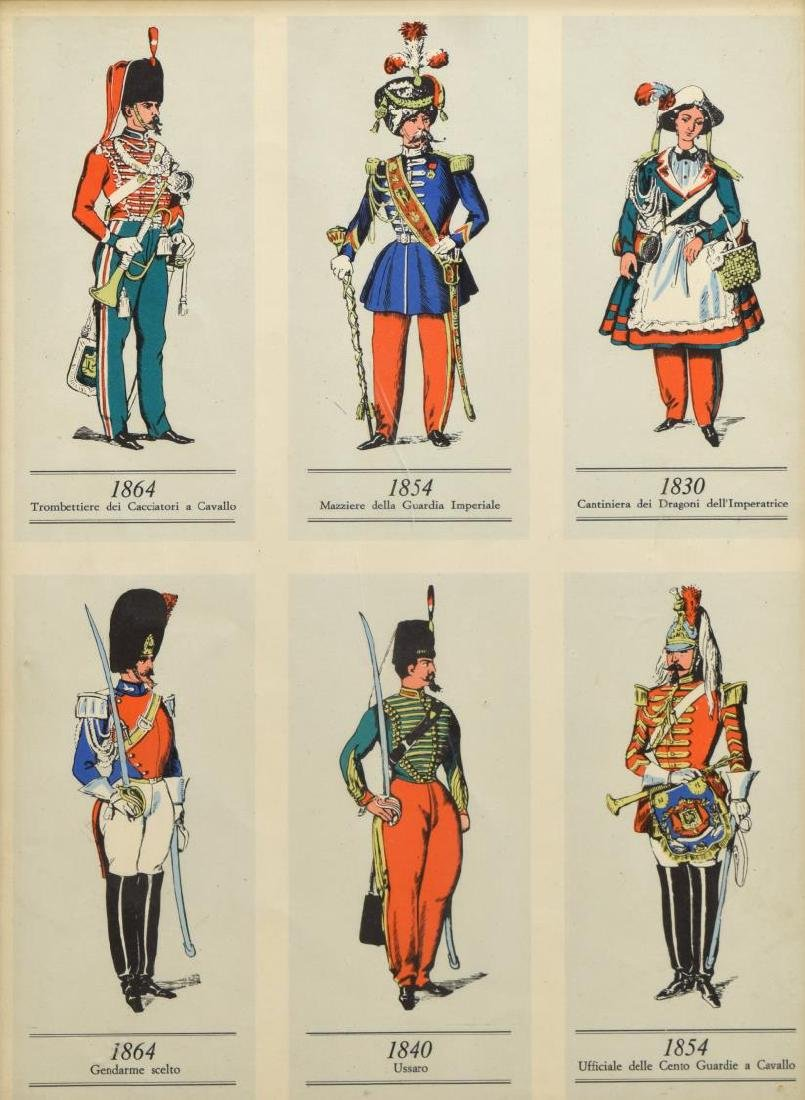 (4) FRAMED PRINTS OF 19TH C. MILITARY UNIFORMS - 3