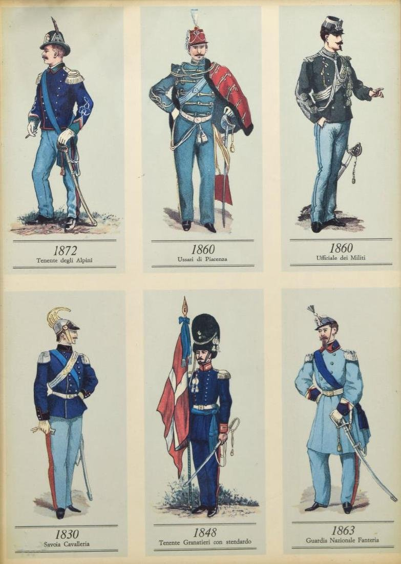 (4) FRAMED PRINTS OF 19TH C. MILITARY UNIFORMS - 4