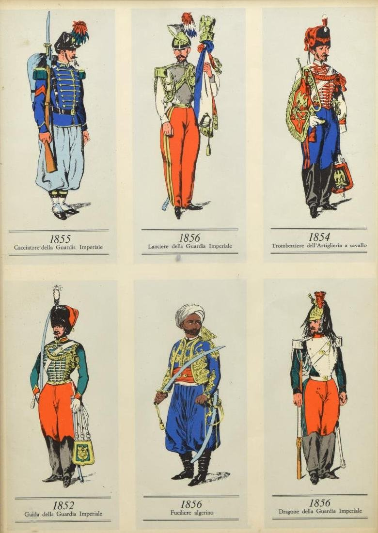 (4) FRAMED PRINTS OF 19TH C. MILITARY UNIFORMS - 5
