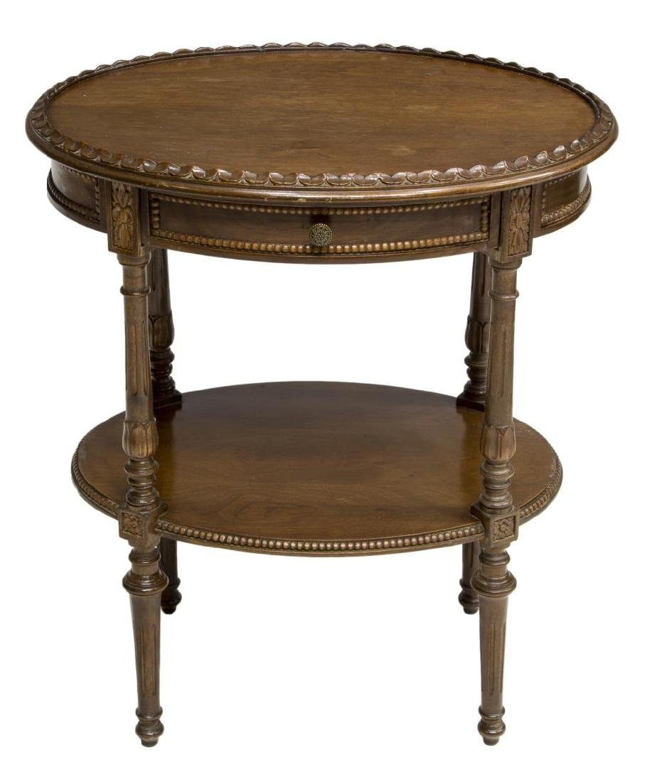 CONTINENTAL LOUIS XVI STYLE WALNUT SIDE TABLE - 2