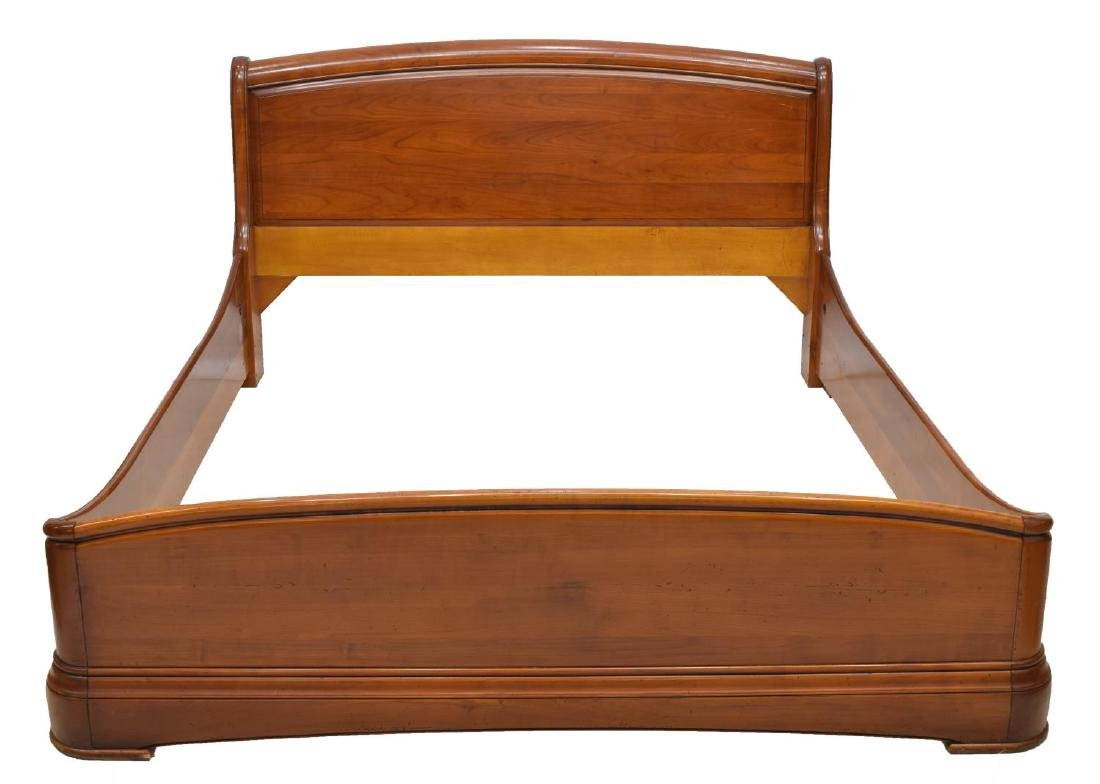 FRENCH CHARLES X STYLE WALNUT FINISH BED - 2