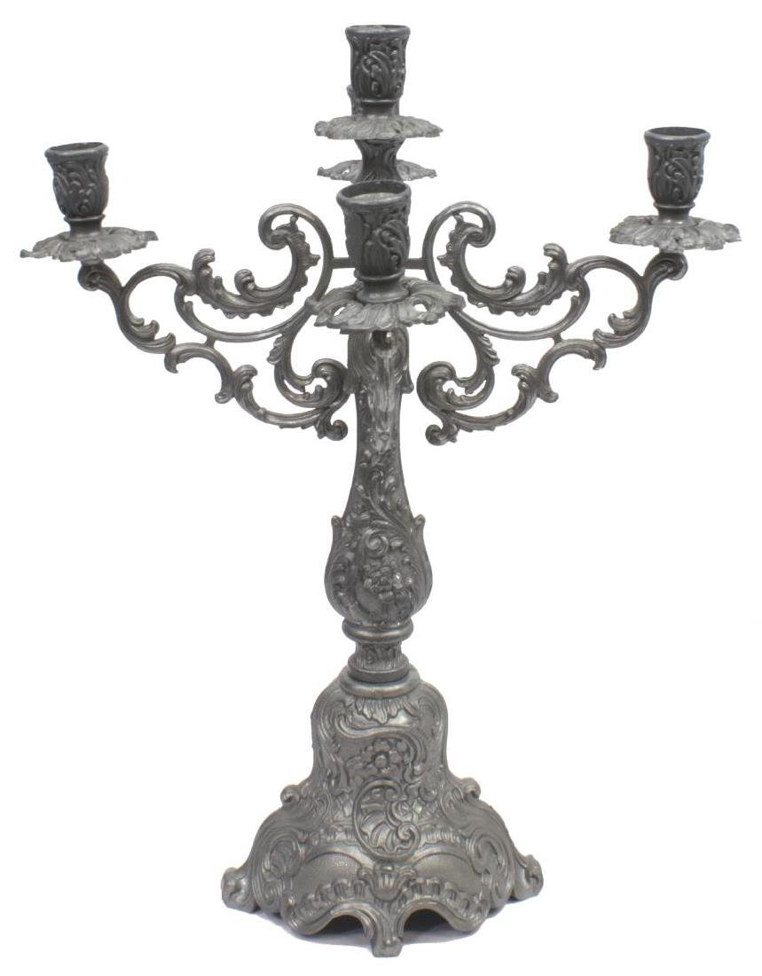 (5) DECORATIVE METALWARE GROUP, PEWTER, CROSSES - 2