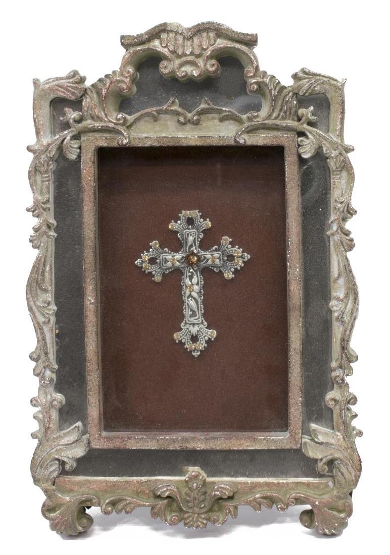 (5) DECORATIVE METALWARE GROUP, PEWTER, CROSSES - 4