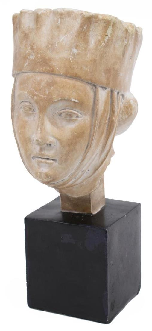 CERAMIC SCULPTURE, 13TH C. RENAISSANCE WOMAN
