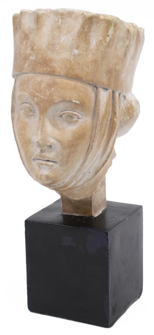CERAMIC SCULPTURE, 13TH C. RENAISSANCE WOMAN