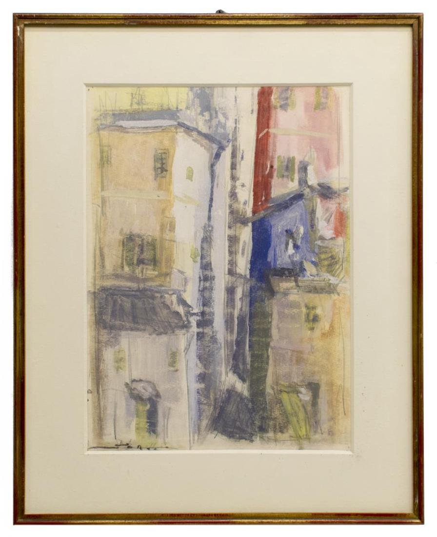 (3) FRAMED MODERN WATERCOLOR & GOUACHE PAINTINGS - 3