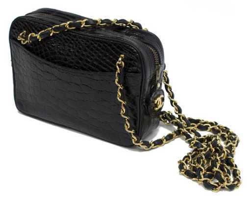 ed273793010ec4 CHANEL MINI CAMERA BAG IN BLACK ALLIGATOR. placeholder. See Sold Price