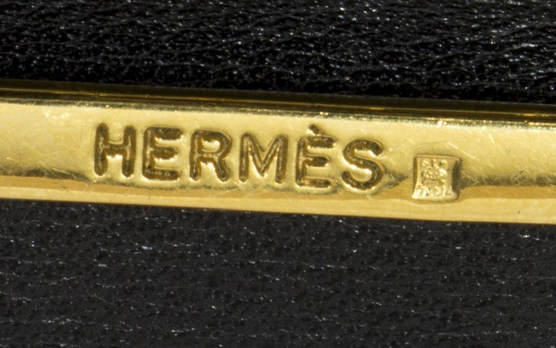 MEN'S HERMES BLACK & BROWN REVERSIBLE ETRIER BELT - 3