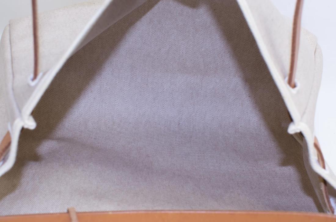 HERMES 'HERBAG' NATURAL TOILE INTERCHANGEABLE BAG - 4