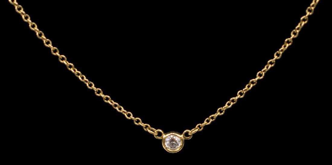 TIFFANY & CO. ELSA PERETTI 18K DIAMOND NECKLACE