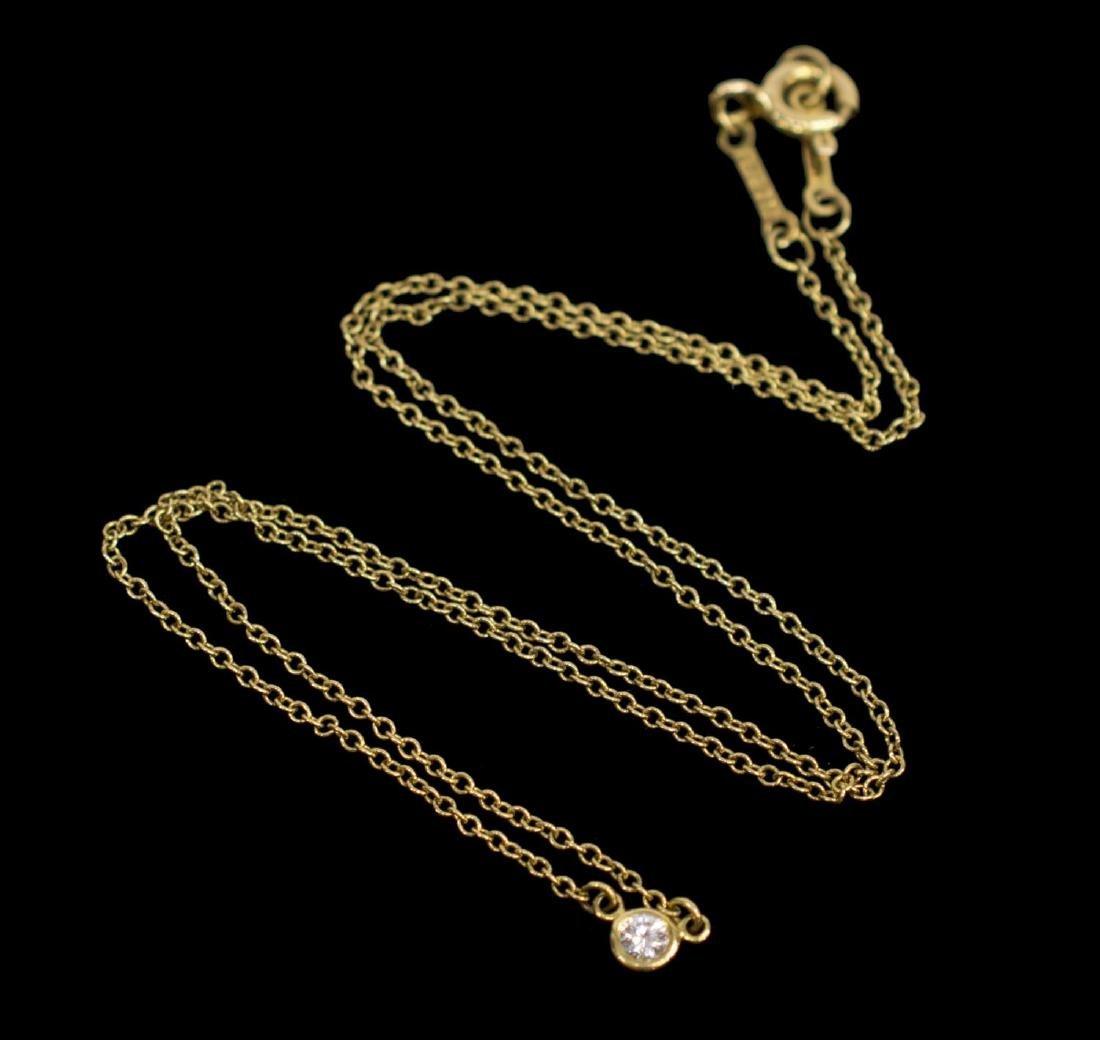TIFFANY & CO. ELSA PERETTI 18K DIAMOND NECKLACE - 2