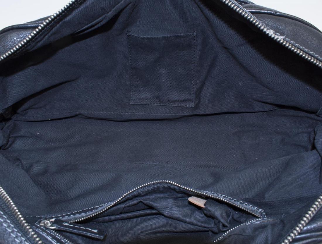 CHLOE 'PADDINGTON' BLACK LEATHER HANDBAG - 4