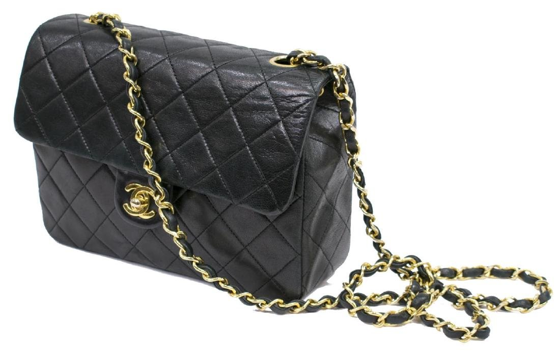 CHANEL CLASSIC NAVY LEATHER SINGLE FLAP BAG