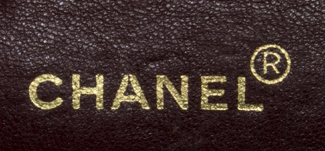 CHANEL 'CLASSIC DOUBLE FLAP' BLACK LEATHER HANDBAG - 5